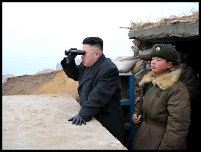 """Oor die slagveld kom sy blik aangesweef…en die """"US Imperialists"""" bibber en beef."""