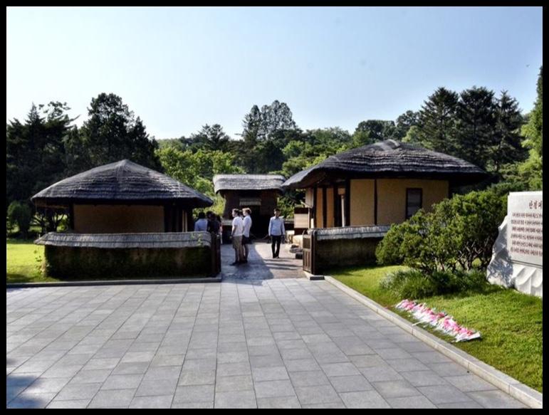 Mangyongdae, die nederige geboorteplek van die heel grootste staatsman van alle tye.