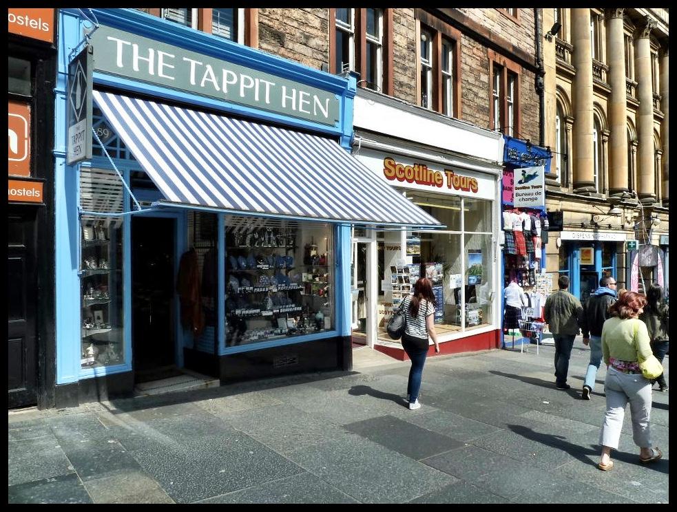 'n Brakpan-tannie se winkel in Edinburgh.