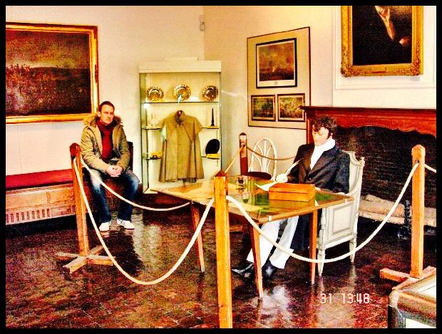 Die kamer in die Waterloo-museum waar Wellington die nag voor die veldslag deurgebring het.