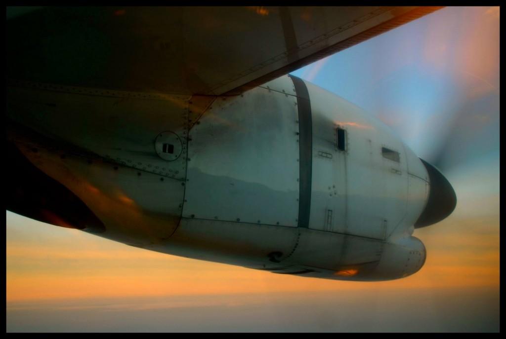 Op pad na Krakow – in 'n vliegtuig wat nog op die ou manier deur 'n skroef aangedryf word.