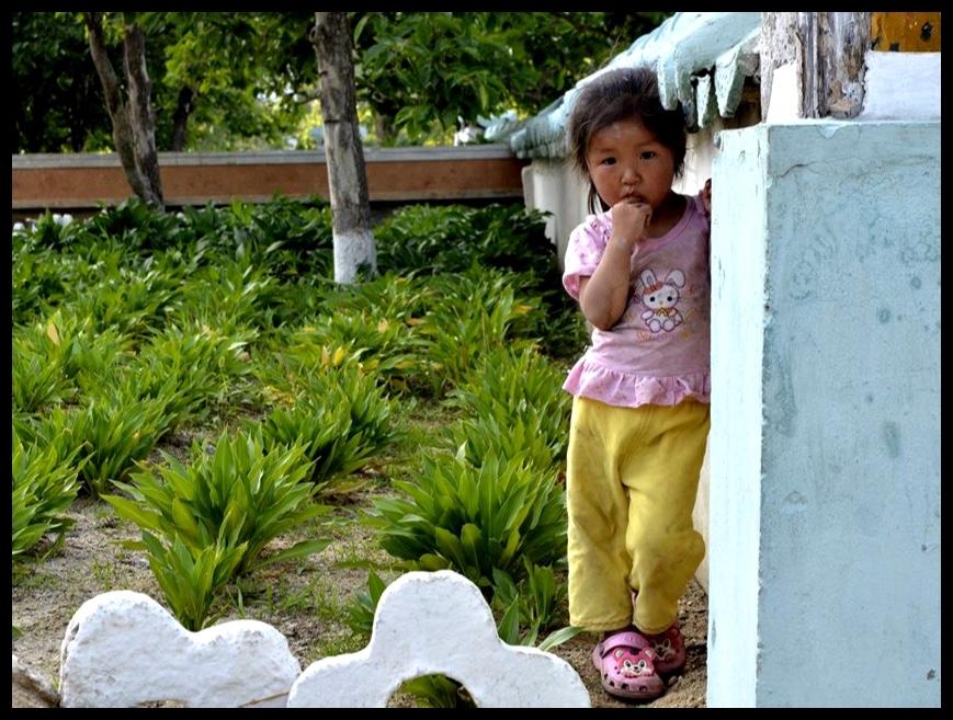 Een van die enigste Noord-Koreane wat nie wou weghardloop wanneer ek my kamera in hulle rigting gemik het nie.